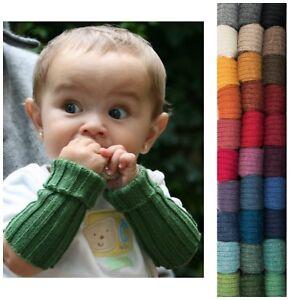 Kinder Pulswärmer aus reiner Baby Alpaka öko Wolle Armstulpen Alpaca de Colores