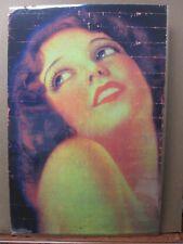 Vintage Black Light Poster Girl Pin-up 1970's Inv#G255