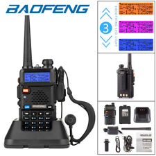 Baofeng UV-5R VHF UHF Dual Band Two Way Ham Radio Walkie Talkie 128CH + Earpiece