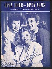 Open Door Open Arms 1949 You Andrews Sisters
