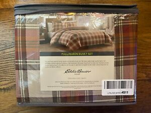 Eddie Bauer® Edgewood Collection, RED PLAID Cotton Duvet Cover Set, FULL / QUEEN