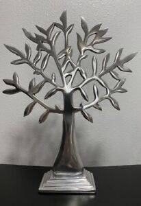 Olive Tree - Silver Metal - Free Standing - 17 in high x 13 inch wide