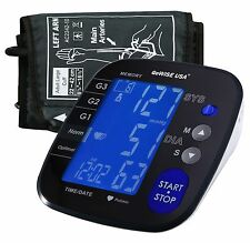 GoWISE USA Digital Blood Pressure Monitor w/Backlit LCD Screen&Carry Bag-GW22060