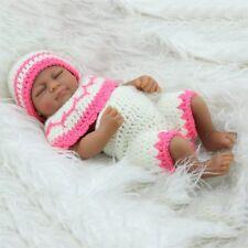 African American Baby Dolls Handmade Sleeping Lifelike Vinyl Silicone Girl Doll