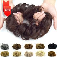 Curly Hair Bun Extensions Chignon Updo Bun Hair pieces Hair Band for Women