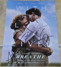 """Breathe Multi Signed 12""""x8"""" Photo Andrew Garfield , Claire Foy , Andy Serkis +1"""