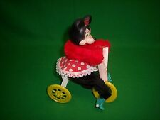 Disney Minnie Mouse Handmade Pull Toy Doll on Trike