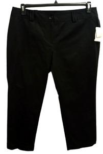 NWT Charter Club black women's spandex stretch mid rise straight leg pants 16WP