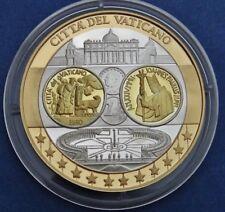 manueduc  Vaticano 2002  MEDALLA  EURO JUAN PABLO II Chapada  Plata  Oro Nórdico