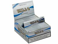 Genuine Micron Rizla Silver King Size Slim Thin Cigarette Rolling Papers Booklet