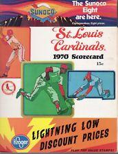 1970 Baseball program Atlanta Braves @ St. Louis Cardinals, unscored ~ VG