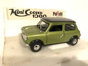 Mini cooper 1300 Polistil Con Scatola Originale  Fondo Di Magazzino 1:24