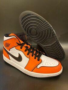 2020 Air Jordan 1 Mid SE Turf Orange DD6834-802 Mens and GS Sizes 7Y- 10