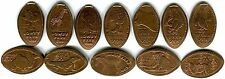 Tampa's Lowry Park Zoo Complete Set Of 12 Copper Pressed Pennies Retired In 2015