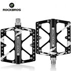 "ROCKBROS MTB Bike Bicycle Pedals Flat/Platform Three Bearing Pedals 9/16"""