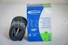 """6 x Schwalbe AV1 12"""" Bike Cámaras Válvula Schrader USTED ESTÁ COMPRANDO 6 TUBOS"""