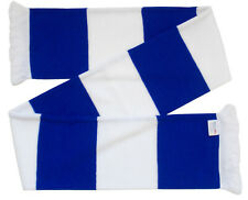 Leicester City Supporters Royal Blue and White Retro Bar Scarf - Made in the UK
