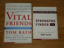 Tom Rath Leadership Book Collection Strength Finder 2.0 & Vital Friends Lot of 2