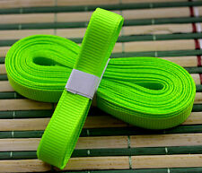 "Fluorescent color 5yds 3/8"" (10 mm)Solid Grosgrain Ribbon Hair Bows Ribbion"