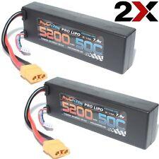 New 50C Lipo Battery for Arrma Nero 2S 7.4V 5200mAh 2 Pack w XT90
