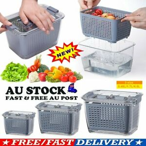Fresh Produce Vegetable Fruit Storage Containers AU STOCK HG