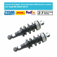 Pair Front Air Suspension Shock Absorber Electric control Magnetic Fit Audi R8