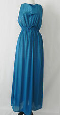 Vtg Undercover wear Intimate Night Gown Blue Full length Open back Size S