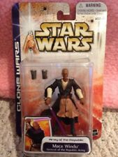 Star Wars Clone Wars General Of Republic MACE WINDU New Sealed On Card Figure