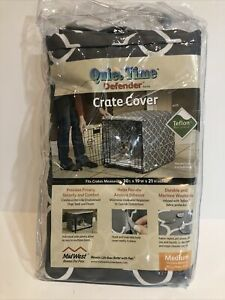 """Midwest QuietTime Defender Dog Crate Cover Gray 30"""" x 19"""" x 21"""" Medium Free Ship"""