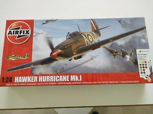 Airfix Hawker Hurricane MK1 WWII Aircraft Plastic Model Kit Scale 1:24 A 50167