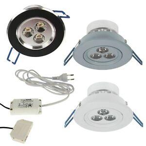 3er Set LED Decken-Einbauleuchten 230V 9W 540lm warmweiß Einbaustrahler Spot