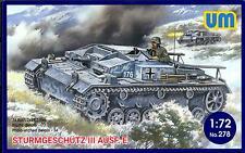 UM-MT Models 1/72 STURMGESCHUTZ III AUSF. E German WWII Assault Gun