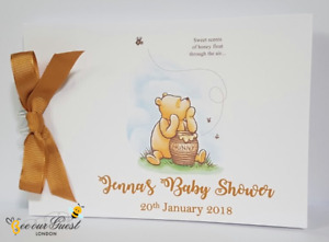 PERSONALISED WINNIE THE POOH BABY SHOWER / CHRISTENING / NAMING DAY GUEST BOOK