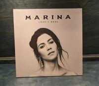 "Marina ""Love + Fear"" 2LP Colored Vinyl Record Marina And The Diamonds"