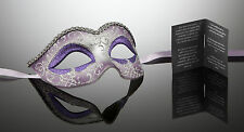 original venezianische Maske Karneval Maskenball Augenmaske Handmade Lila NEU