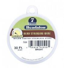 "Beadalon 7 Strand Beading Wire .012""(0.30mm) Bright Steel 30ft"
