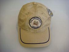 NEW The Meadows Del Mar Khaki w/ Navy Blue Trim & Brim Golf Hat (B392)