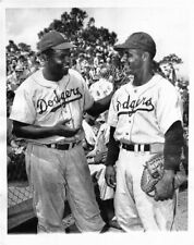 JACKIE ROBINSON ROY CAMPANELLA DODGERS 8x10 PHOTO