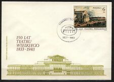 POLAND 1983 FDC SC#2555 WARSAW THEATER