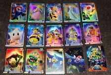 SUPER MARIO GALAXY Wii Trading Card Foil Set - COMPLETE - NINTENDO