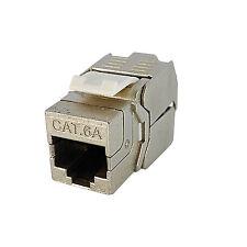 Tede 4 X CAT 6A (CAT 7) RJ45 8P8C Modular Toolless Keystone Snap-in Jack Network