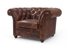 Chesterfield  Sofa Couch Polster 1 Sitzer Sessel Sofas Design Polster Leder Neu