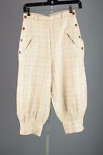 Vtg 1920s Women's Cream Linen Pants 20s Breeches #1428 Lawson Golf Jodphurs