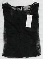 LADIES MARKS AND SPENCER BLACK FLORAL EYELASH LACE BODY SIZE 16