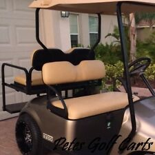 EZGO Golf Cart Front Seat Kit Fits ST TxT MPT Models 1994 and Up TAN New OEM