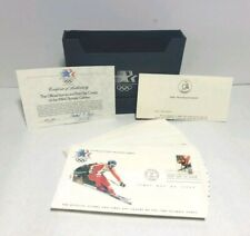Vintage Collection of Official Stamps and First Day Covers of 1984 Olympic Games