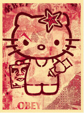 * SHEPARD FAIREY - HELLO KITTY * SIGNED PRINT EDITION OF 250 * obey giant