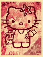 * Shepard Fairey-Hello Kitty * Firmato stampa edizione del 250 * OBEY Giant