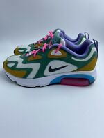 Nike Air Max 200 Mystic Green White-Gold Suede Women's Shoes AT6175-300- Sz 6