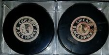 Vintage Converse Chicago Blackhawks ART ROSS USA game puck s lot viceroy canada